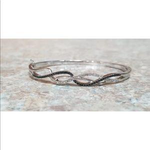 Jewelry - Black and White Diamond Bangle Bracelet
